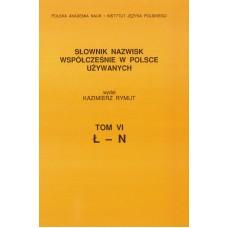Słownik nazwisk, t. VI: Ł-N, Kazimierz Rymut