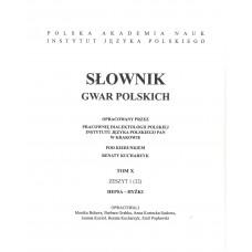 Słownik gwar polskich, t. 10, z.1 (32)