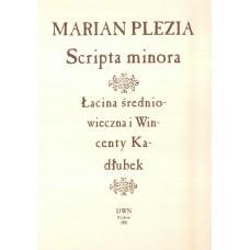 Marian Plezia, Scripta minora. Łacina średniowieczna i Wincenty Kadłubek