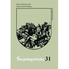 Socjolingwistyka 31