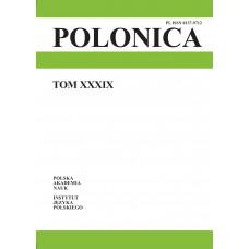 Polonica t. XXXIX