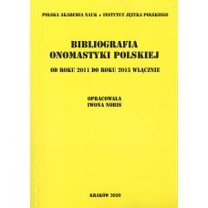 Bibliografia onomastyki polskiej 2011-2015