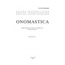 Onomastica LXI/1