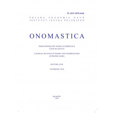 Onomastica LXIII