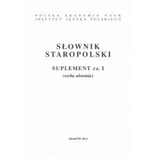 Słownik staropolski. Suplement cz. I