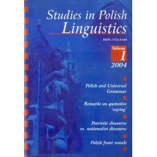 Studies in Polish Linguistics, vol. I