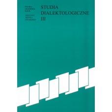 Studia dialektologiczne III