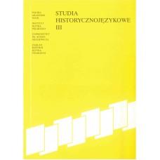 Studia historycznojęzykowe III