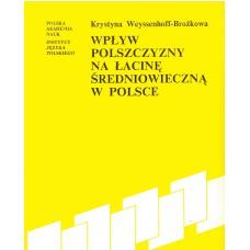 Krystyna Weyssenhoff-Brożkowa, Wpływ polszczyzny na łacinę średniowieczną w Polsce